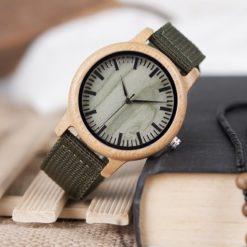 Zegarek drewniany Bobo Bird Style Green D11 2