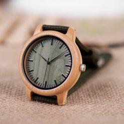 Zegarek drewniany Bobo Bird Style Green D11 4