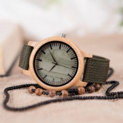 Zegarek drewniany Bobo Bird Style Green D11 3