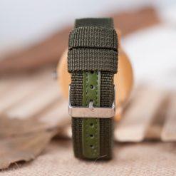 Zegarek drewniany Bobo Bird Style Green D11 5
