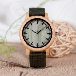 Zegarek drewniany Bobo Bird Style Green D11