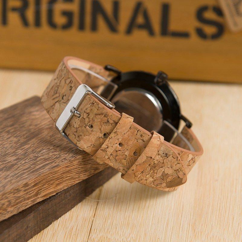Zegarek drewniany Bobo Bird Cork E19 12