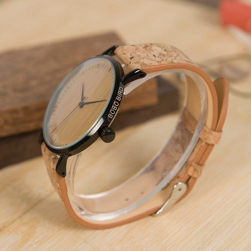 Zegarek drewniany Bobo Bird Cork E19 13