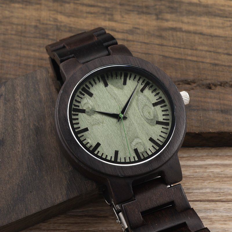 Drewniany zegarek Bobo Bird Shade Green C29