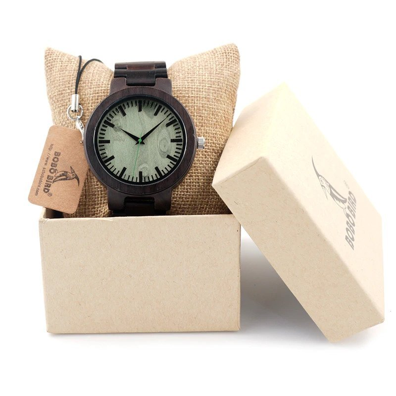Drewniany zegarek Bobo Bird Shade Green C29 w pudełku