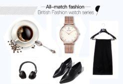 Zegarek King Hoon Star miedziany biały 14
