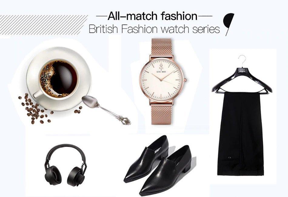 Zegarek King Hoon Star miedziany biały 16
