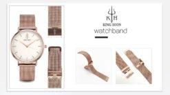 Zegarek King Hoon Star miedziany biały 13