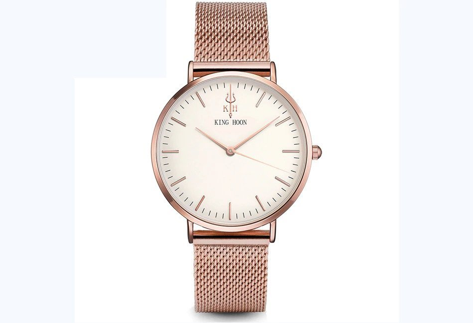 Zegarek King Hoon Star miedziany biały 18