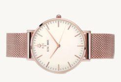 Zegarek King Hoon Star miedziany biały 11