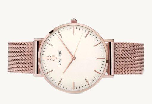 Zegarek King Hoon Star miedziany biały 4
