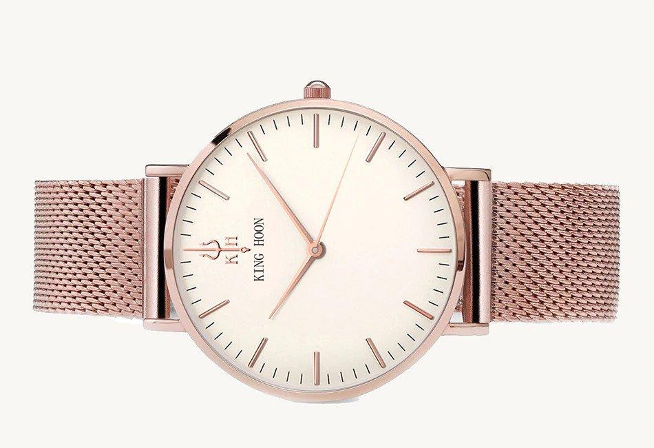 Zegarek King Hoon Star miedziany biały 20