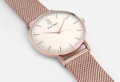 Zegarek King Hoon Star miedziany biały 9