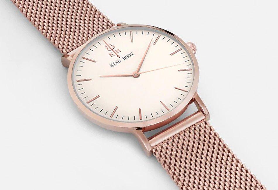 Zegarek King Hoon Star miedziany biały 21