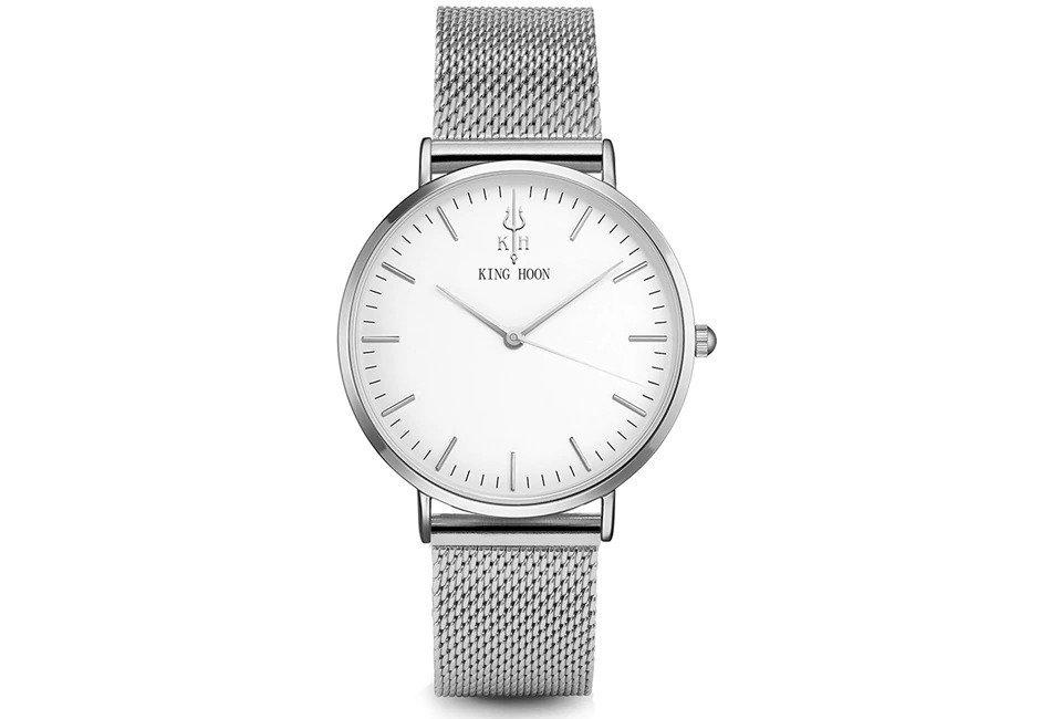 Zegarek King Hoon Star srebrny 24