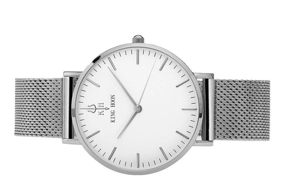 Zegarek King Hoon Star srebrny 22