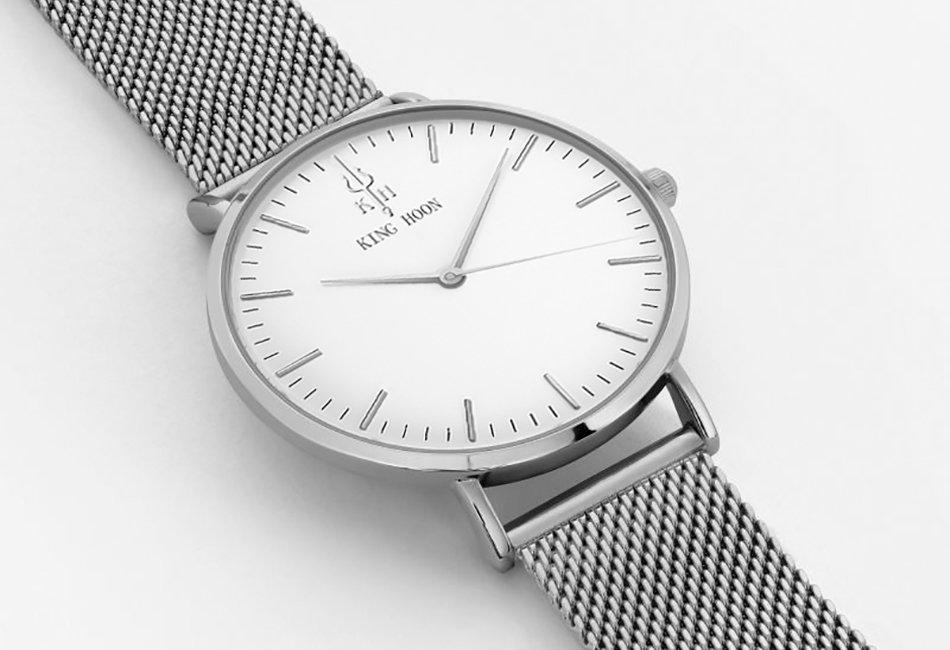 Zegarek King Hoon Star srebrny 21