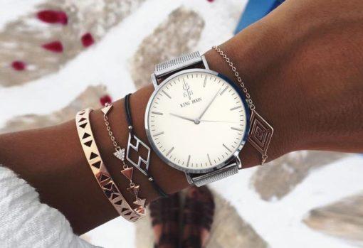Zegarek King Hoon Star srebrny 5