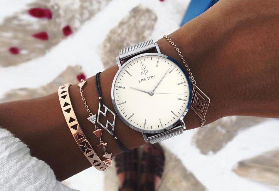 Zegarek King Hoon Star srebrny 20