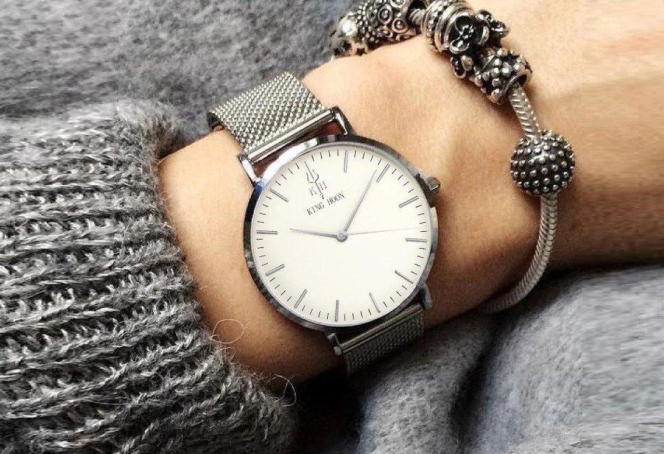 Zegarek King Hoon Star srebrny 19