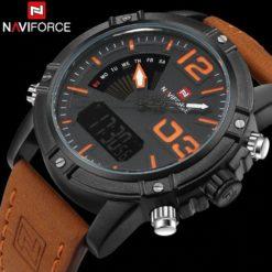 Zegarek NaviForce Top brązowy pomarańczowy