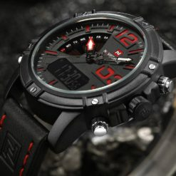 Zegarek NaviForce Top czarny czerwony