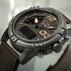 Zegarek NaviForce Top kawowy żółty