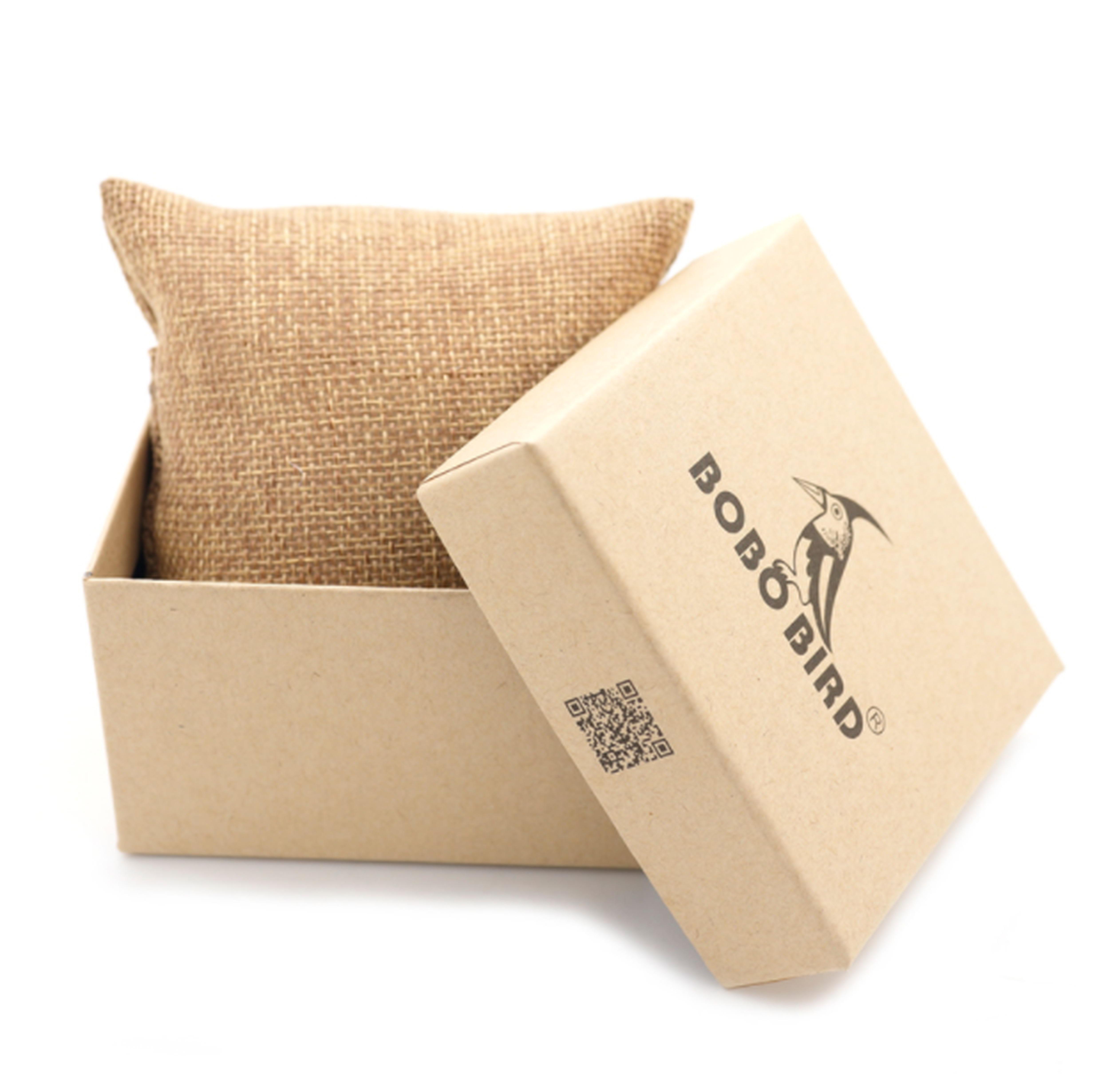 Drewniany zegarek Bobo Bird Premium S08-3 pudełko