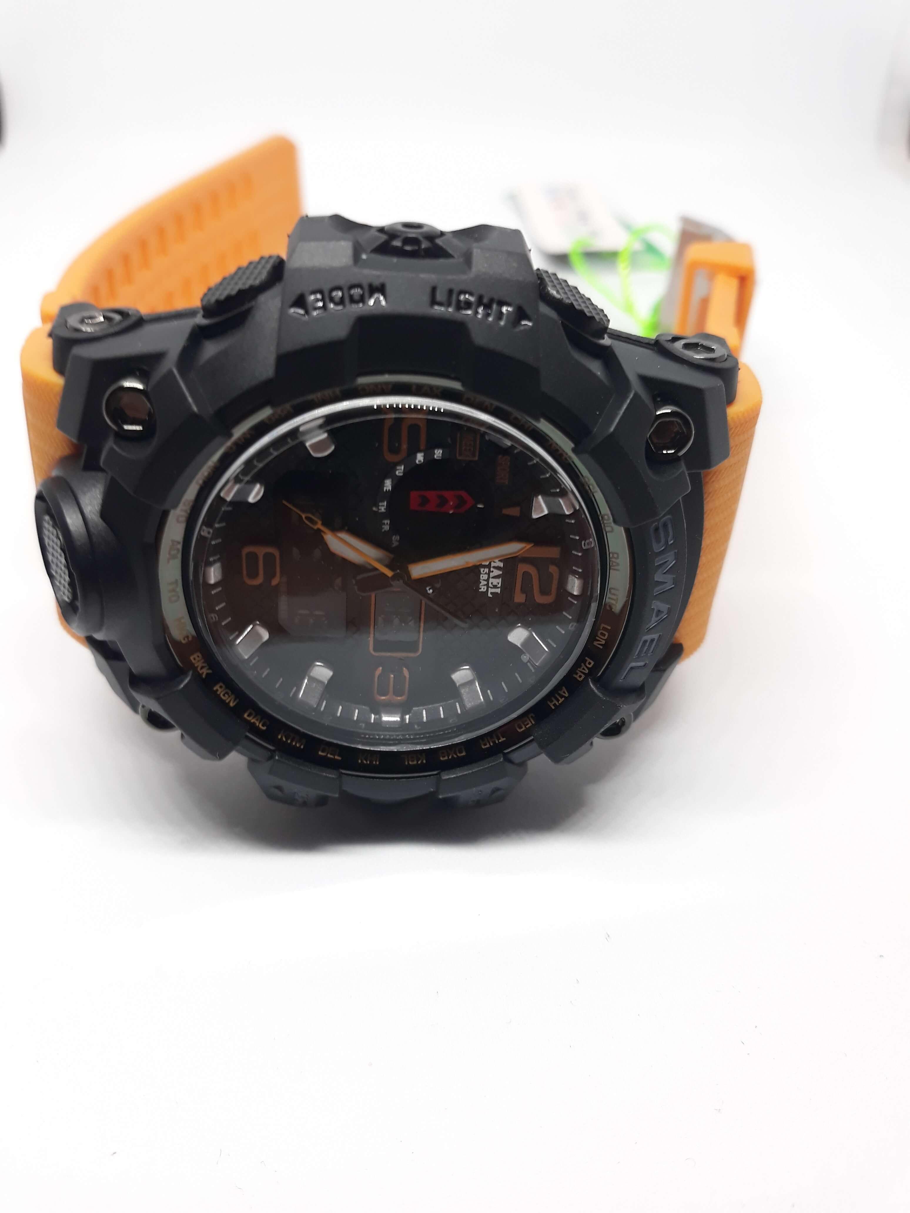 Zegarek Smael Camouflage pomarańczowy 10