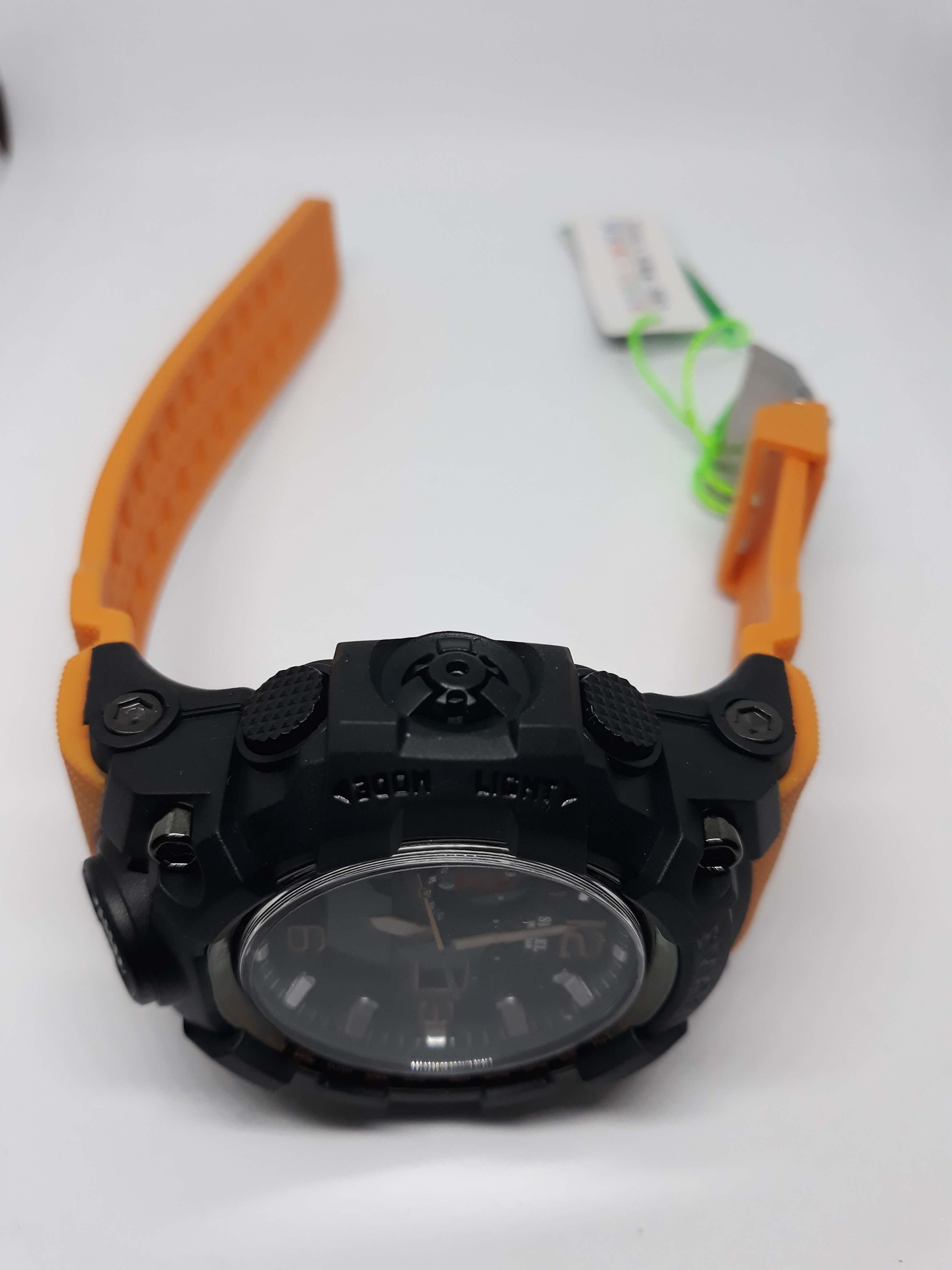 Zegarek Smael Camouflage pomarańczowy 11