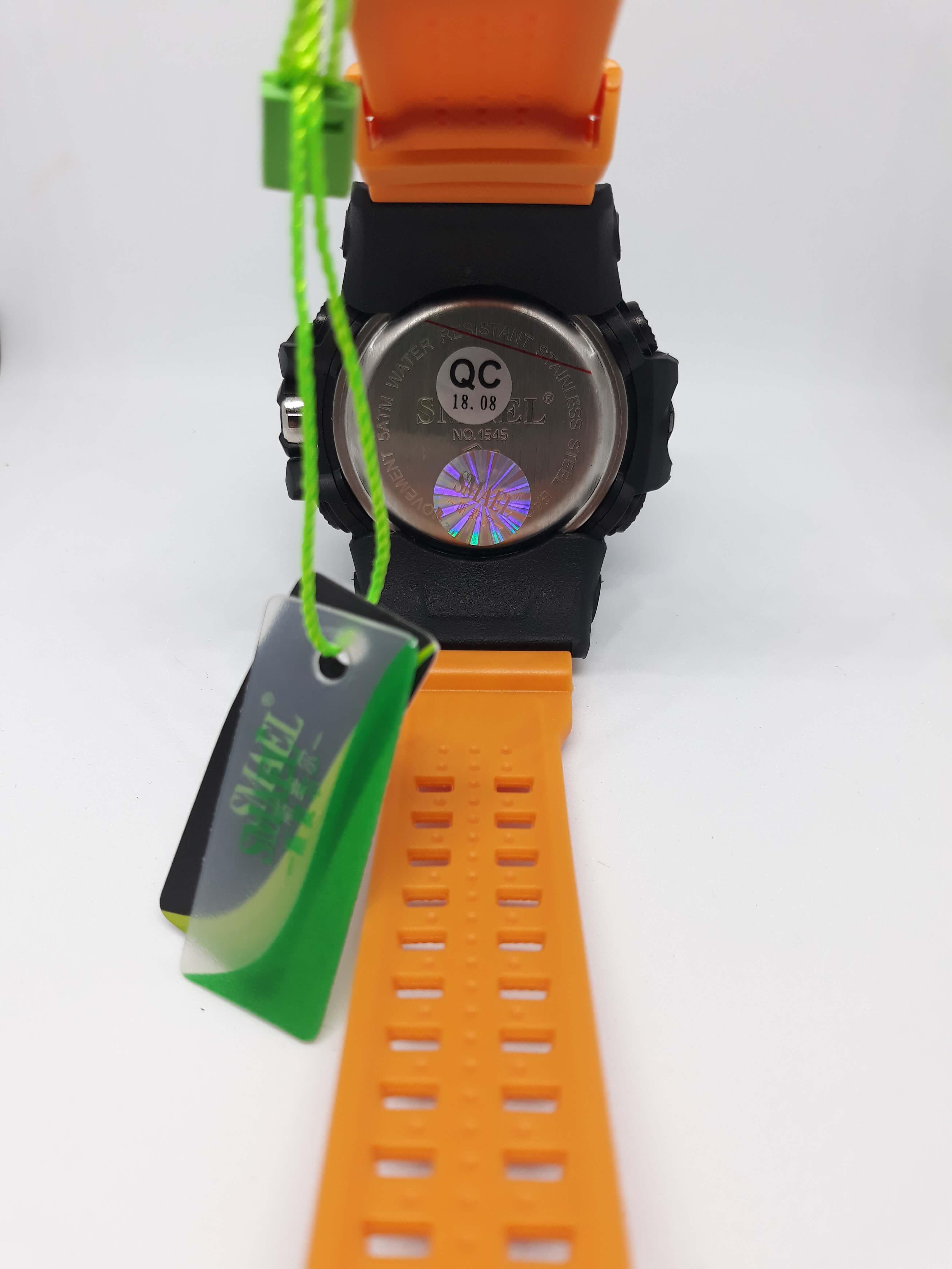 Zegarek Smael Camouflage pomarańczowy 12