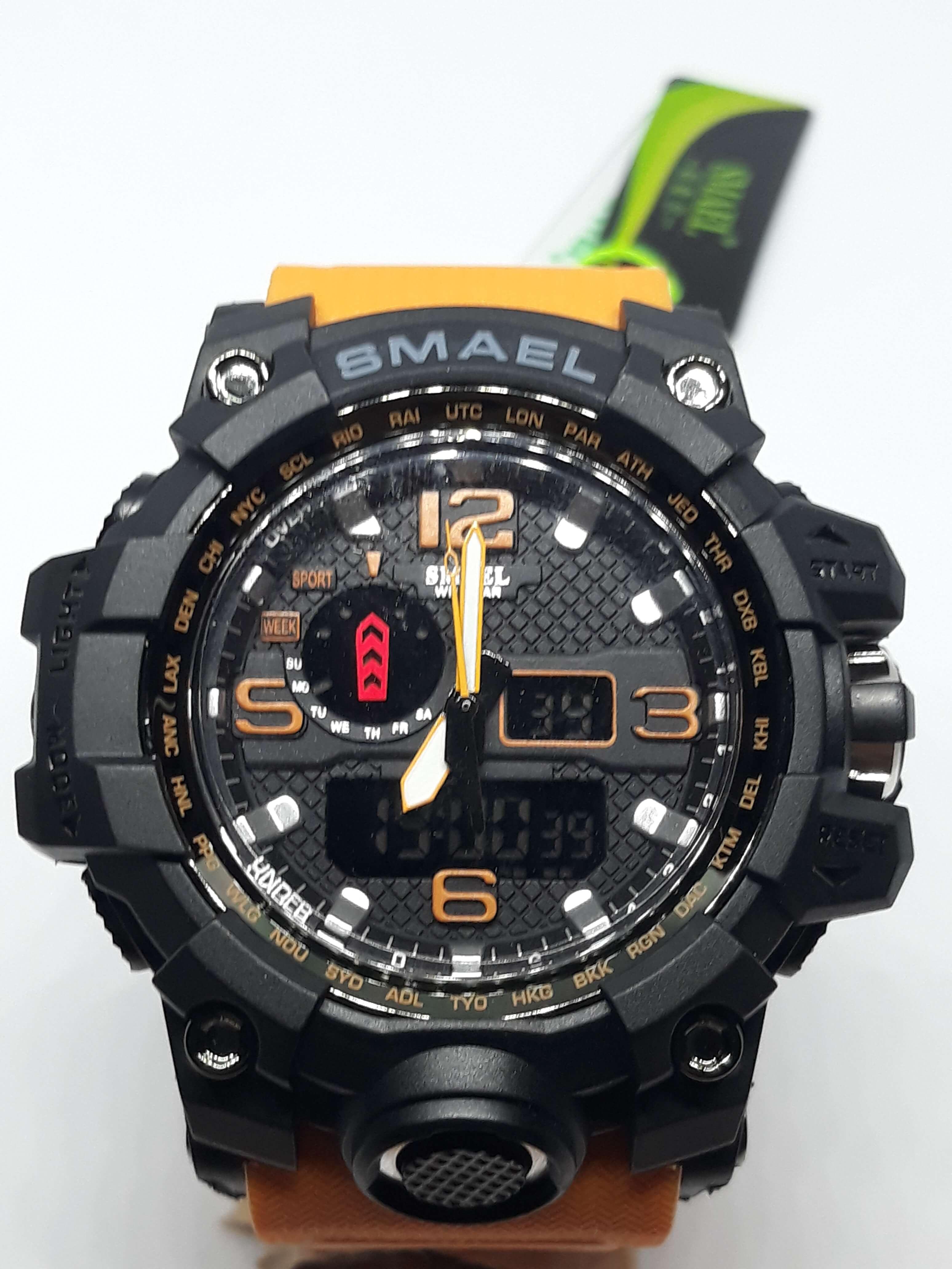 Zegarek Smael Camouflage pomarańczowy 9
