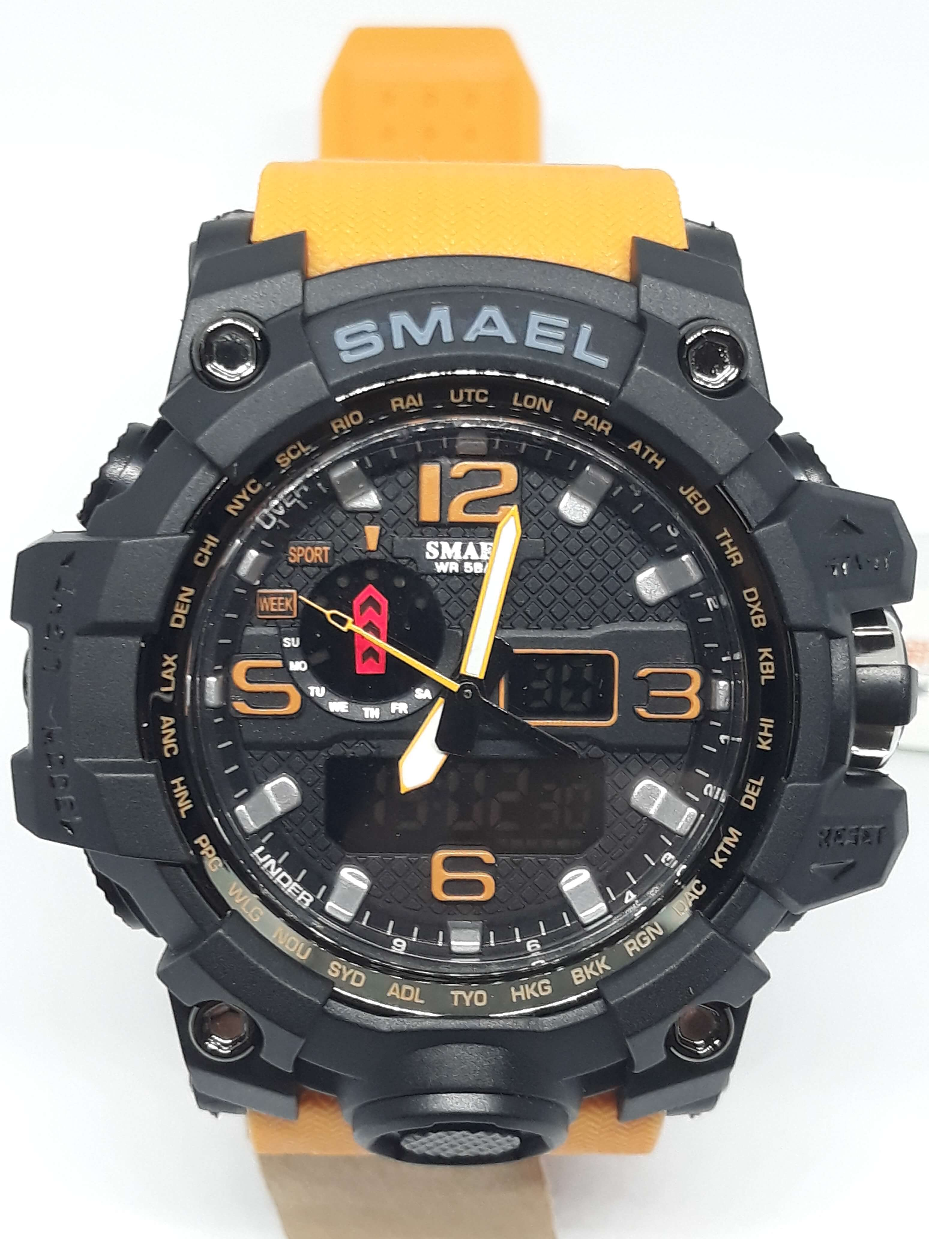 Zegarek Smael Camouflage pomarańczowy 8