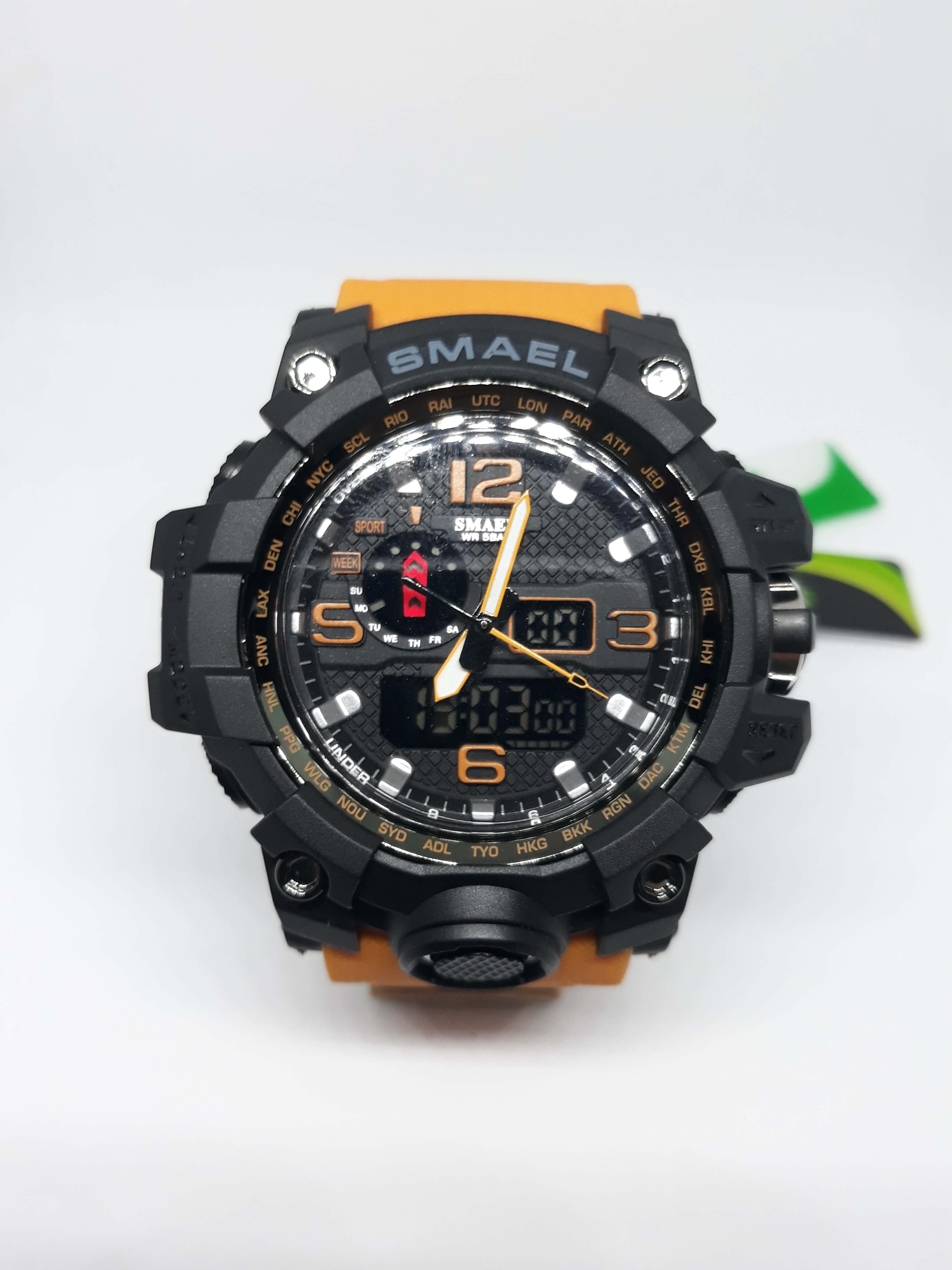 Zegarek Smael Camouflage pomarańczowy 14