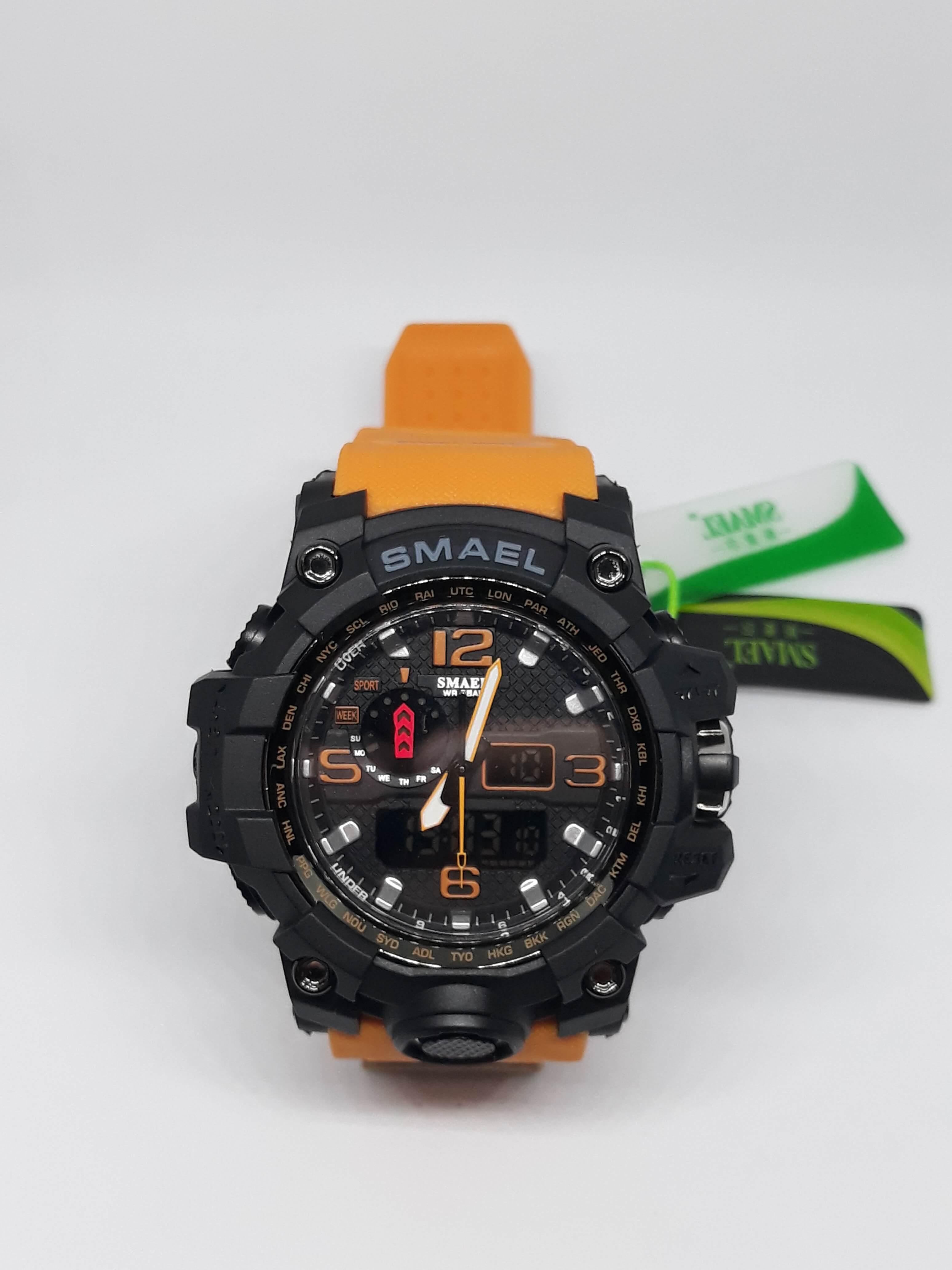 Zegarek Smael Camouflage pomarańczowy 15