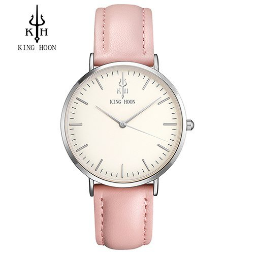 Zegarek King Hoon Star srebrny różowy biały 5