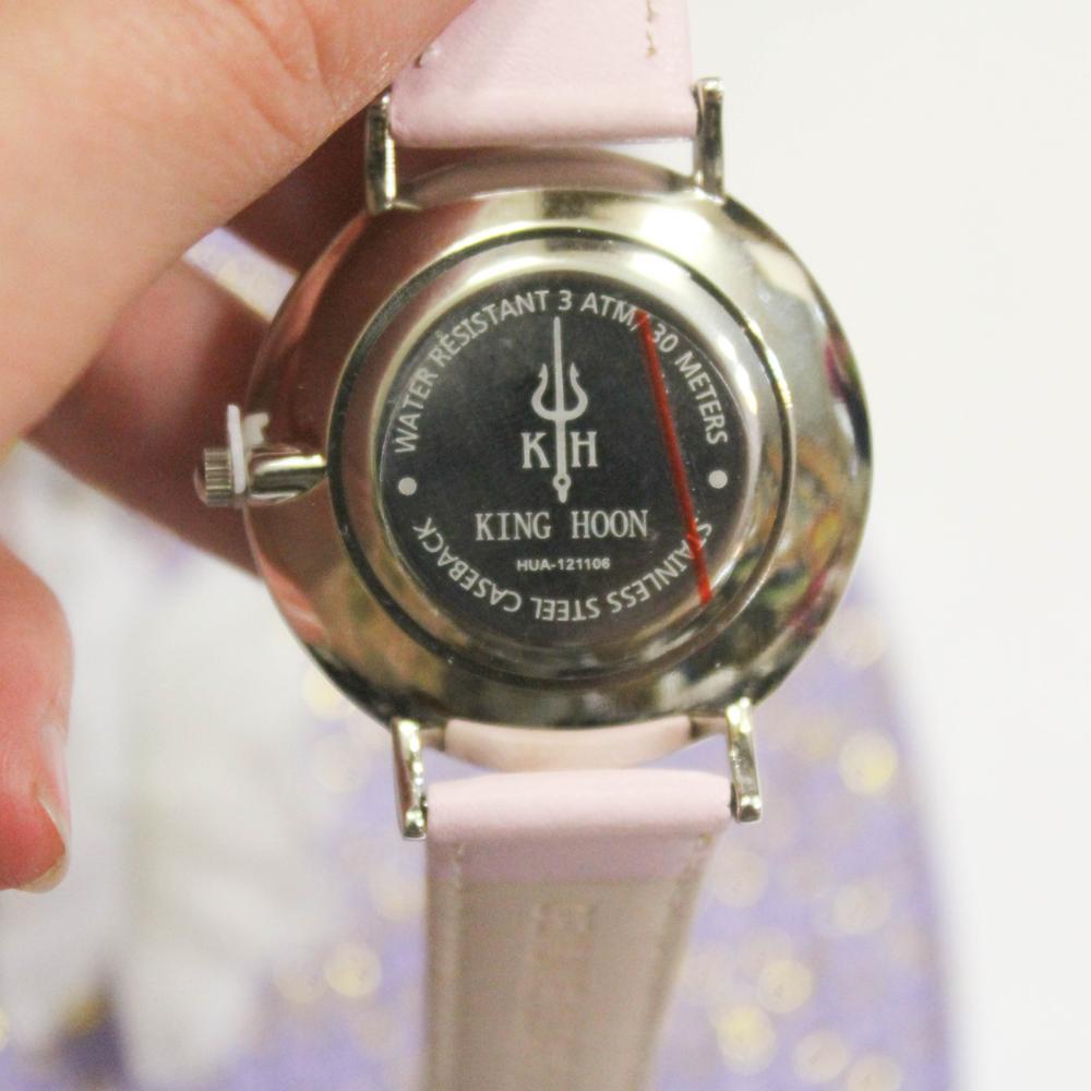 Zegarek King Hoon Star srebrny różowy biały 15