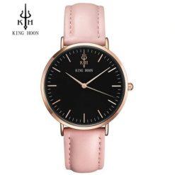 Zegarek King Hoon Star Różowy Czarny