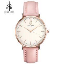 Zegarek King Hoon Star różowy złoty biały 12