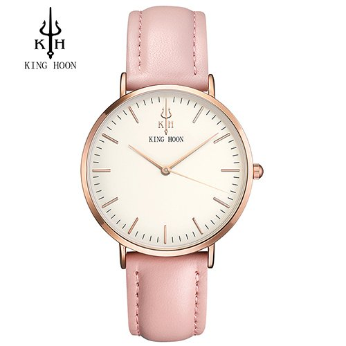 Zegarek King Hoon Star różowy złoty biały 6