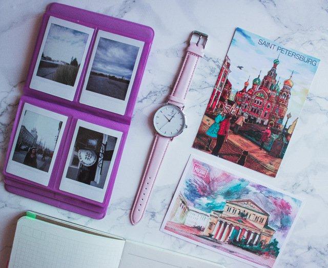 Zegarek King Hoon Star różowy złoty biały 8