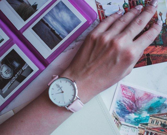 Zegarek King Hoon Star różowy złoty biały 15