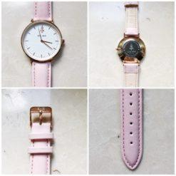 Zegarek King Hoon Star różowy złoty biały 9