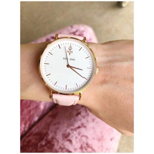 Zegarek King Hoon Star różowy złoty biały