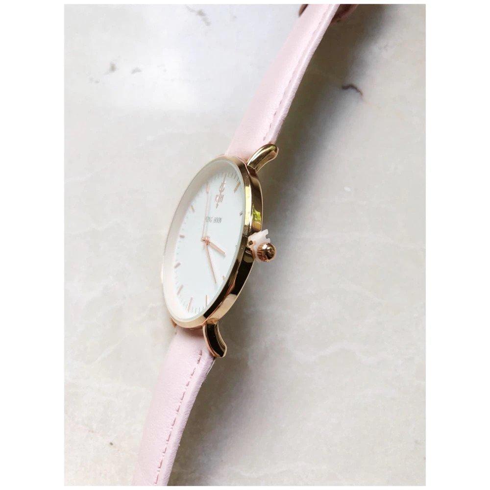 Zegarek King Hoon Star różowy złoty biały 18
