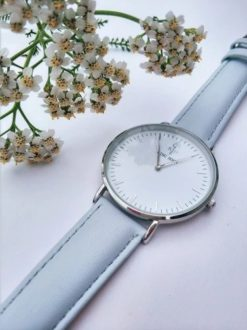 Zegarek King Hoon Star szary srebrny biały 11