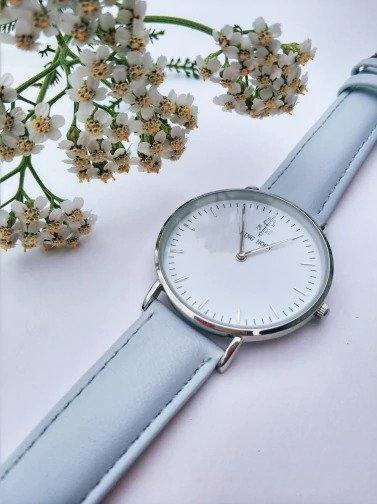 Zegarek King Hoon Star szary srebrny biały 5