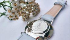 Zegarek King Hoon Star szary srebrny biały 10