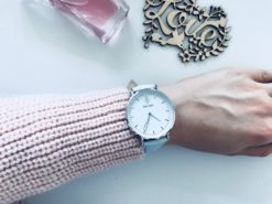 Zegarek King Hoon Star szary srebrny biały 7