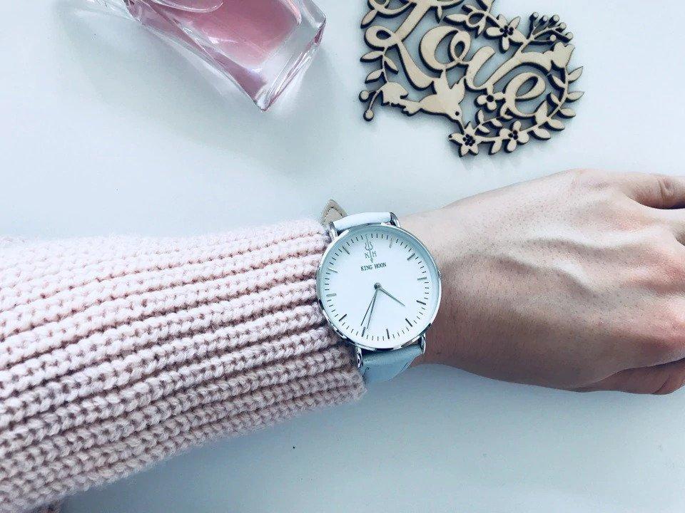 Zegarek King Hoon Star szary srebrny biały 18